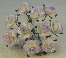 1.5cm 2tone LIGHT LILAC Mulberry Paper Roses